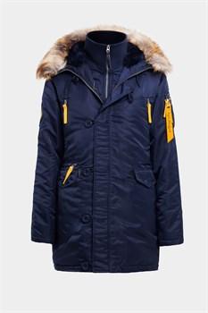 Куртка аляска женская N3B Husky Women's Replica Blue/Yellow - фото 14278