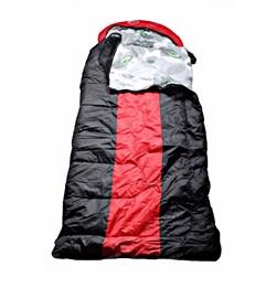 Спальный мешок Аляска Эксперт с подголовником до -10 черно-красный - фото 17739