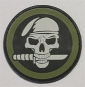 Шeврон на липучке Skull and Knife PVC