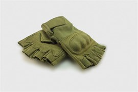 Перчатки Tactical Field без пальцев олива