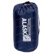 Спальный мешок Аляска Стандарт с подголовником до -5 синий