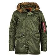 Куртка аляска N-3B Parka Slim Fit Sage Alpha