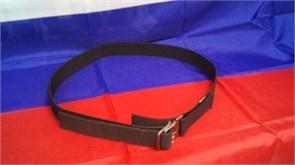 Ремень брючный 40мм с металлической пряжкой черный