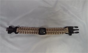 Браслет из паракорда с компасом, кресалом и свистком пустынный камуфляж