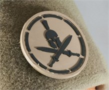Шеврон на липучке Spartan Helmet PVC койот