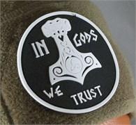 Шеврон на липучке In Gods We Trust PVC