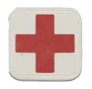 Шеврон на липучке Medic PVC красный на белом