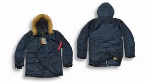Куртка аляска N-3B Parka Replica Blue Alpha