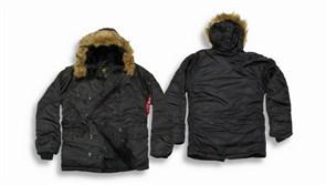 Куртка аляска N-3B Parka Black Alpha