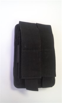 Сдвоенный чехол на 2 магазина универсальный molle черный - фото 10723