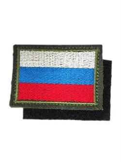 Шеврон на липучке флаг России - фото 10919