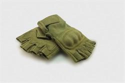 Перчатки Tactical Field без пальцев олива - фото 11386