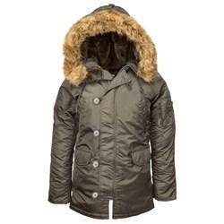 Куртка аляска женская N-3B W Parka Replica Grey - фото 12320