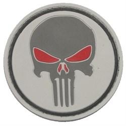 Шеврон на липучке Punisher серый PVC - фото 12374