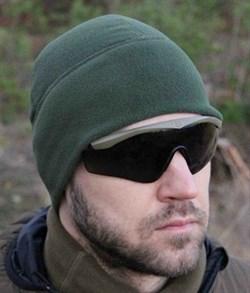 Шапка Fleece HI темно-зеленая - фото 12489