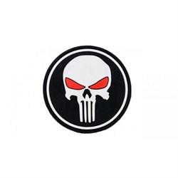 Шеврон на липучке Punisher чёрный PVC - фото 12493