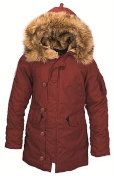 Куртка аляска женская Altitude W Parka Alpha Red Ochre - фото 12773