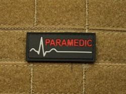 Шеврон на липучке Paramedic прямоугольный - фото 12804