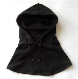 Балаклава-маска флисовая длинная black - фото 12884