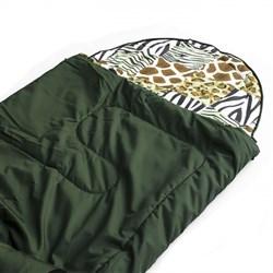Спальный мешок Аляска Стандарт с подголовником до -5 зеленый - фото 13474