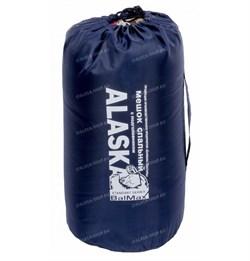 Спальный мешок Аляска Стандарт с подголовником до -5 синий - фото 13729