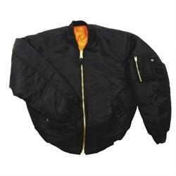 Куртка бомбер MA-1 черная - фото 14149