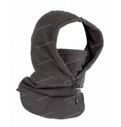 Балаклава-маска флисовая длинная grey - фото 14303