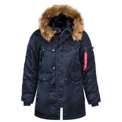 Куртка аляска женская N-3B W Parka Replica Blue - фото 14355