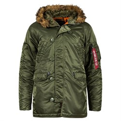 Куртка аляска N-3B Parka Slim Fit Sage Alpha - фото 14375