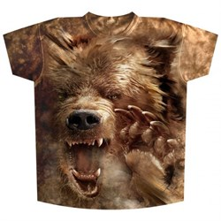 Футболка Медведь с лапой - фото 14554