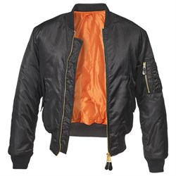 Куртка летная бомбер MA-1 Brandit Black - фото 14774