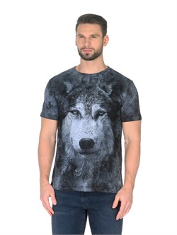 Футболка Волк серый - фото 14912