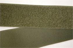 Лента липучка велкро с ответкой 50мм олива метр погонный - фото 15100