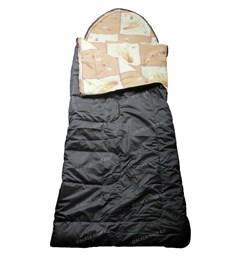 Спальный мешок Аляска Стандарт с подголовником до -5 олива - фото 15642