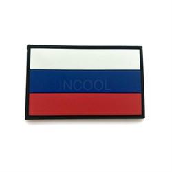 Шеврон на липучке ПВХ Российский флаг малый - фото 16032