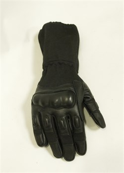 Перчатки EDGE Tactical Nomex удлиненные черные - фото 16118