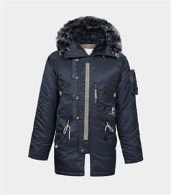 Куртка аляска Apolloget Sapporo Steel Blue - фото 16279