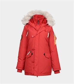 Куртка аляска женская Oxford Simple Red/White Grey - фото 16306