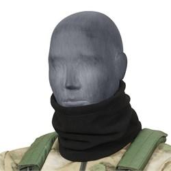 Утеплитель для шеи флисовый черный - фото 16319