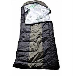 Спальный мешок Аляска Эксперт с подголовником до -15 черный-олива - фото 16366
