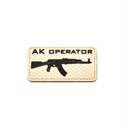 Шеврон на липучке ПВХ AK Operator - фото 16641