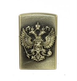 Зажигалка газовая Герб России металл 35х55 мм - фото 17102