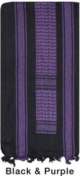 Арафатка Tactical Shemagh Black/Purple - фото 17162
