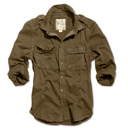 Рубашка Raw Vintage Shirt Brown - фото 17365