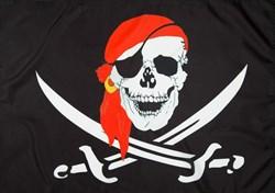 Флаг пиратский с красной банданой 60 x 90 см - фото 17664