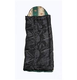 Спальный мешок Аляска Стандарт с подголовником до -5 черный - фото 17728