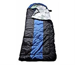 Спальный мешок Аляска Эксперт с подголовником до -10 черно-синий - фото 17741