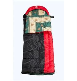 Спальный мешок Аляска Эксперт с подголовником до -5 черно-красный - фото 17936