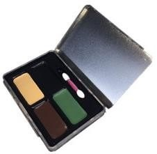 Крем камуфляжный 4 цвета в коробке - фото 18018