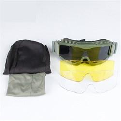 Очки защитные Гром Deluxe олива - фото 18024
